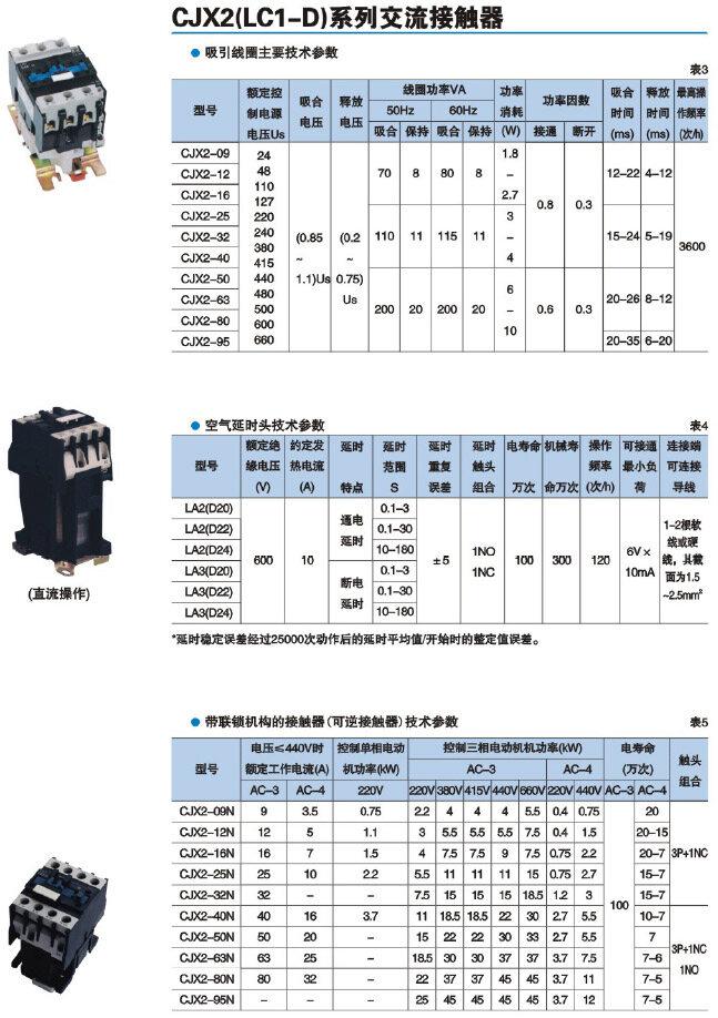 cjx2-633交流接触器