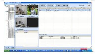 系统功能介绍:      现场监视:目录树显示现场dvr的
