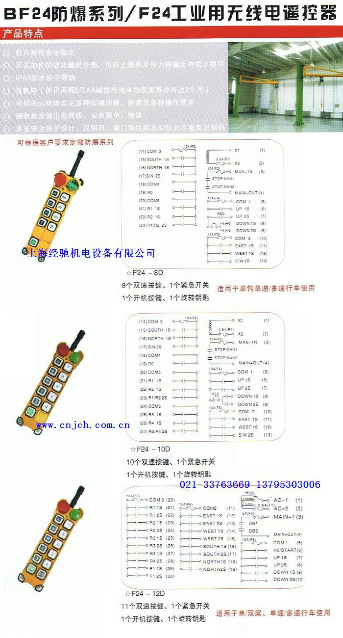 f24-8d,f24-10d,f24-12d工业用无线电遥控器