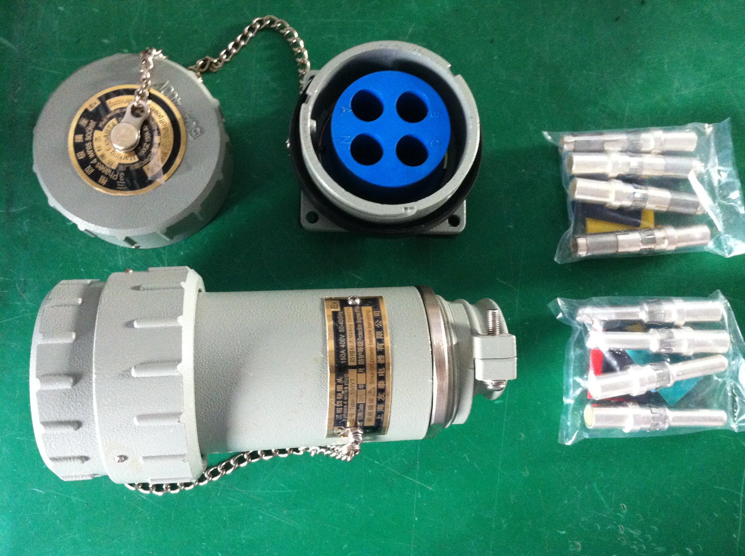防爆无火花插销   联系电话:18606655160 QQ:27390701 产品特点 连接器在保持传统产品安装尺寸的基础上,结构做了较大的改进,使之外型美观,工作更加可靠,通过电流量能力更大,安装更回方便安全,尤其在电缆连接方面具有既可焊接、也可压接的特点,给用户创造了极大的工作方便。 适用范围 海拔高度不超过2000m 相对湿度不大于95%(+25) 环境温度-20~+40 爆炸性气体混合物场所:2区 爆炸性气体混合物:A、B、C 主要技术参数 工作电压:AC220V、AC400V 工作电流