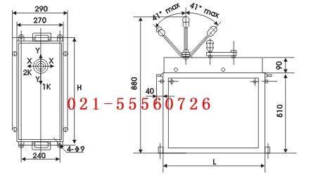 对于5~50吨普通桥式起重机用的标准规格控制台