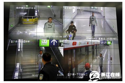 海康威视高清监控系统护力杭州地铁